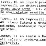Depeša 15.6.1992