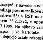 Depeša 24.9.1999