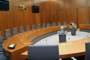 Photo of a parliamentary meeting room