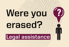A call to the erased to make use of free legal aid provided by the Peace Institute