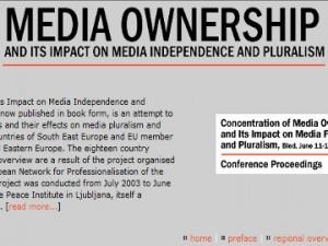Koncentracija medijskega lastništva in njen vpliv na svobodo medijev in pluralizma