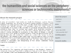 snapshot of 'Humanities' website