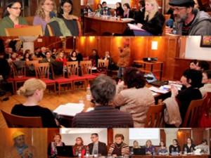 Kolaž fotografij iz Migracijskega foruma.
