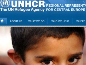 unhcr website snapshot