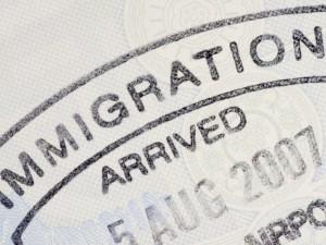 Passport immigration stamp