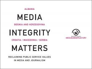 Book cover - Media integrity matters