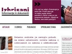 izbris web site