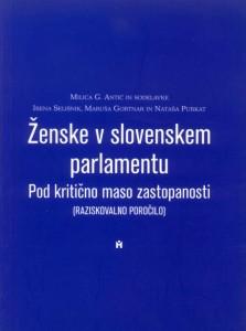 Ženske v slovenskem parlamentu: Pod kritično maso zastopanosti