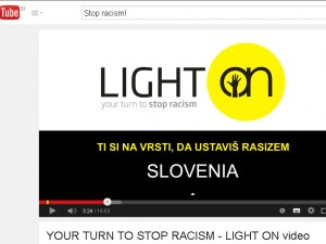 """""""Your turn to stop racism"""""""