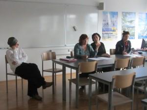 Sandra Bašić Hrvatin (UP FHŠ), Živa Humer (Mirovni inštitut), Maksimiljana Ipavec (Primorske novice) in Lea Širok (RTVSLO - Radio Koper)