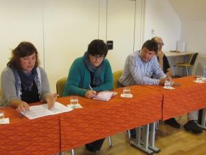 Živa Humer (Mirovni inštitut), Nataša Harej (Radio Triglav), Iztok Škofic (Gorenjska TV) in Samo Lesjak (Gorenjski glas)
