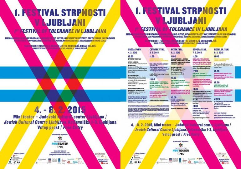 1. Festival strpnosti 2015, filmski festival.