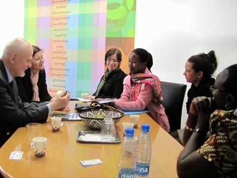 Študijski obisk predstavnic Ženskega centra Nyamirambo iz Ruande, april 2014