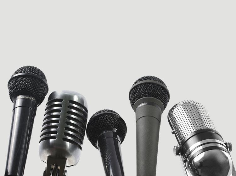 Fotografija mikrofonov