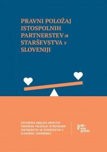 Zbornik »Pravni položaj istospolnih partnerstev in starševstva v Sloveniji«
