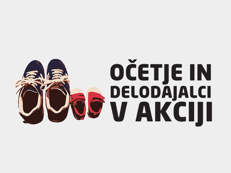 Logotip projekta Očetje in delodajalci v akciji