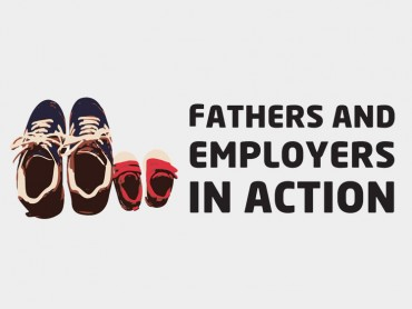 Logotype of the Fathers and Employers in Action project