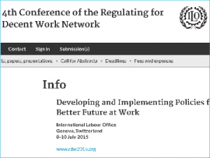 Participation at the ILO conference on the future of work
