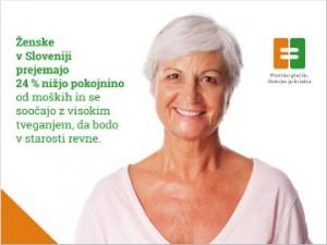 Ozaveščevalna kampanja o plačni in pokojninski neenakosti med moškimi in ženskami