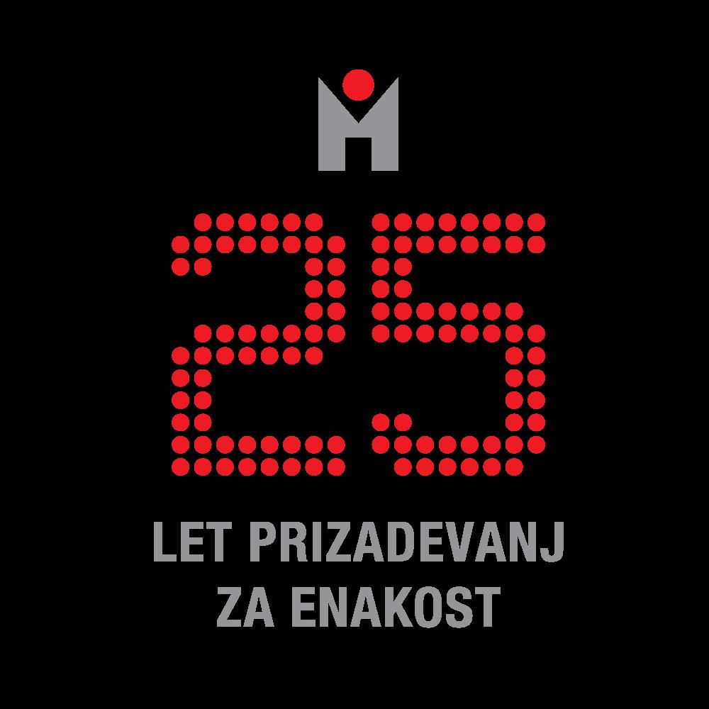 Logotip za 25 let Mirovnega inštituta