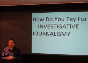 David Leigh, former investigation chief at the Guardian, now professor of journalism at the City University.