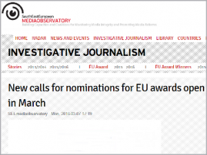 New calls for nominations for EU awards open in March