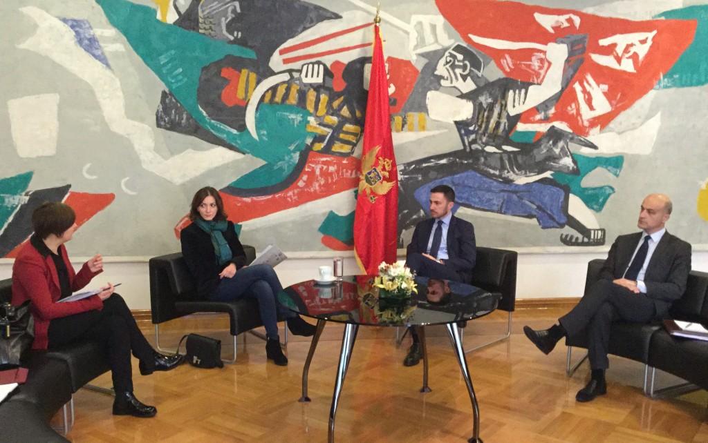 Srečanje z ministrom za kulturo Črne gore