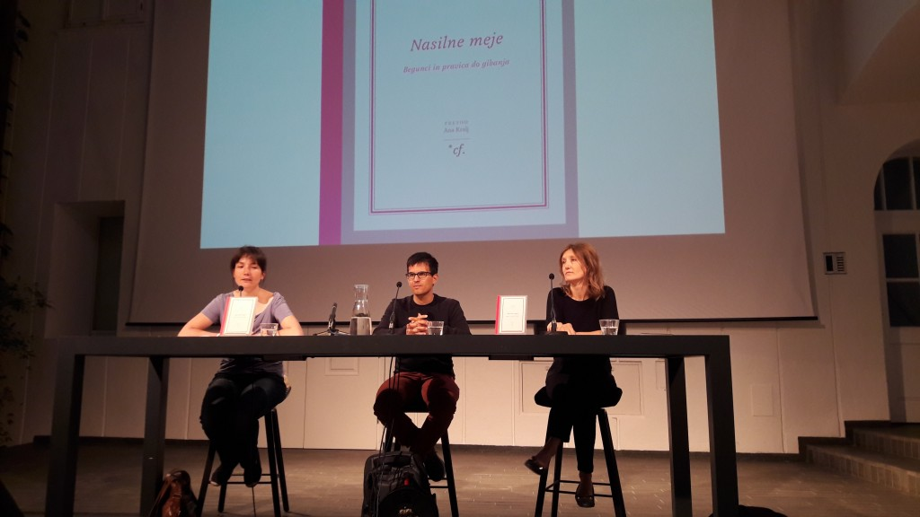 Pogovor o knjigi 'Nasilne meje: Begunci in pravica do gibanja', Atrij ZRC.