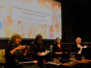 Razprava o populizmu in prihajajočih volitvah v evropski parlament