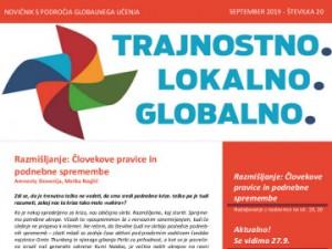 Septembrski novičnik s področja globalnega učenja