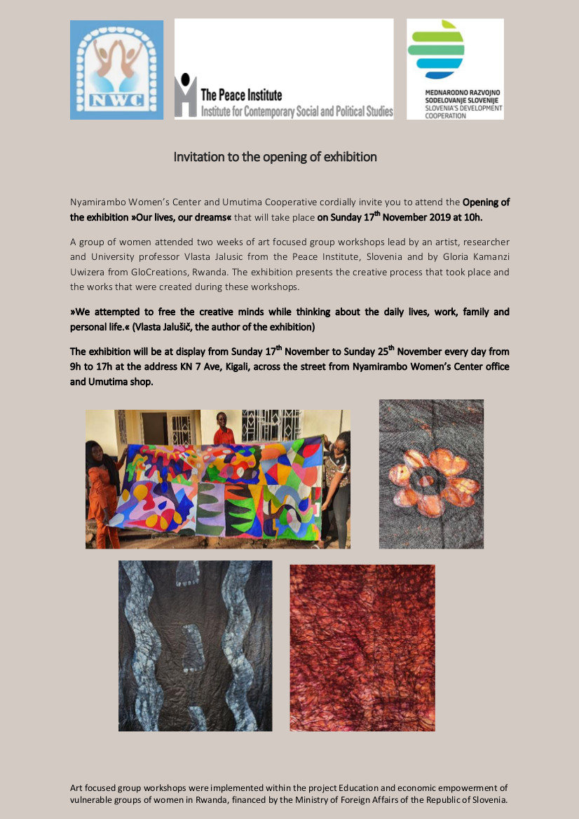 Invitation to the opening of exhibition NWC November 2019-last