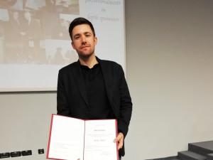Marko Ribać prejel priznanje za najboljšo doktorsko disertacijo