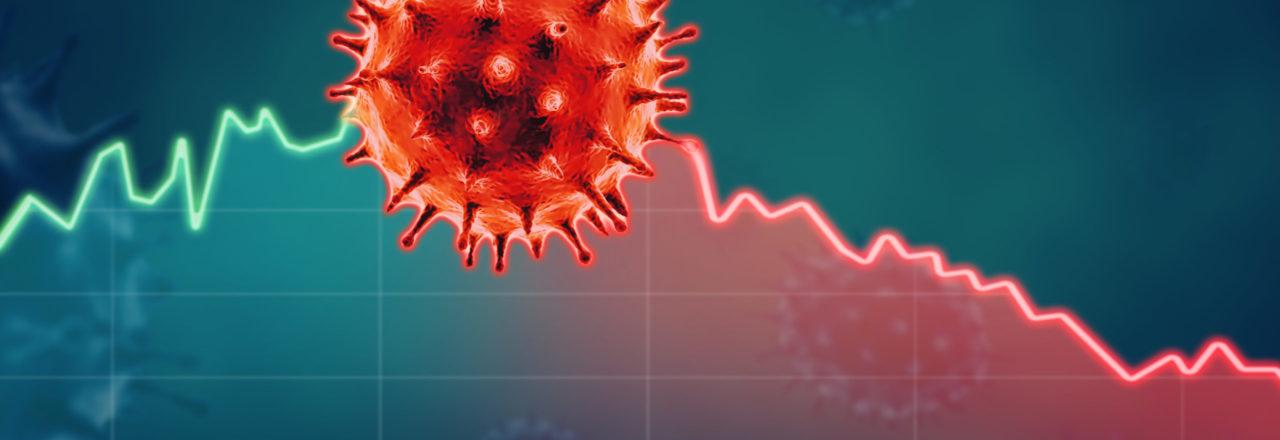 Coronavirus economic impact concept image