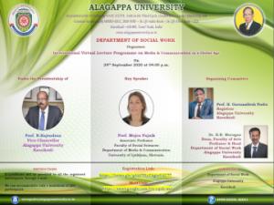 Predavanje »Media and Communication in a Global Age«