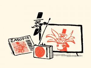Pod Črto: Mediji Martina Odlazka (1. del): nepregledna mreža radiev, tiskovin, televizije