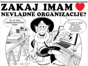 Strip: Zakaj imam rad nevladne organizacije?