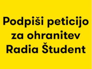 Izjava podpore radiu Študent